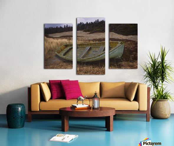 Clinker-built Rowboat Canvas print