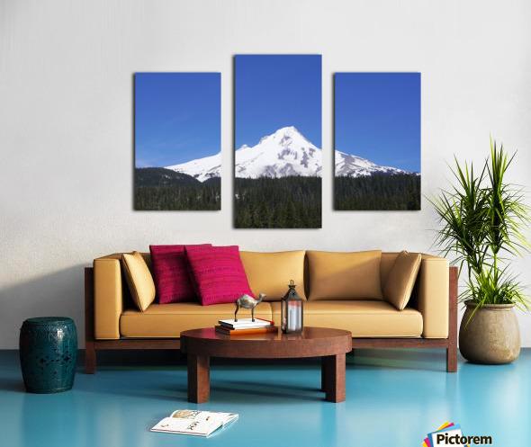 Blue Skies over Mount Hood Canvas print