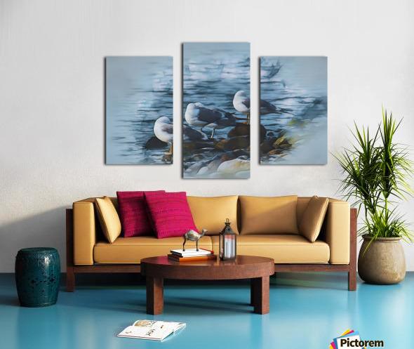 Preening Gulls Canvas print