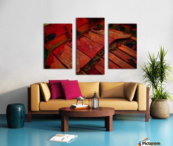 Rowboat Abstract Canvas print
