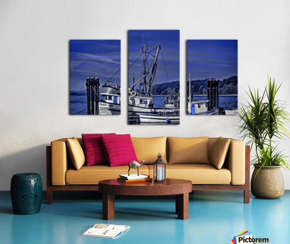 Fishing Boats at the Dock Canvas print