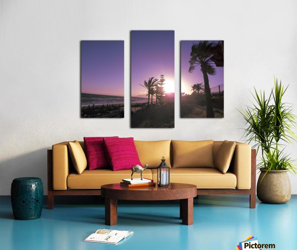 Sunset   Costa Del Sol   Andalusia Spain Canvas print