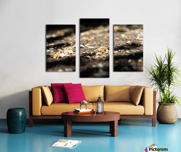 Confettis sur bitume Impression sur toile