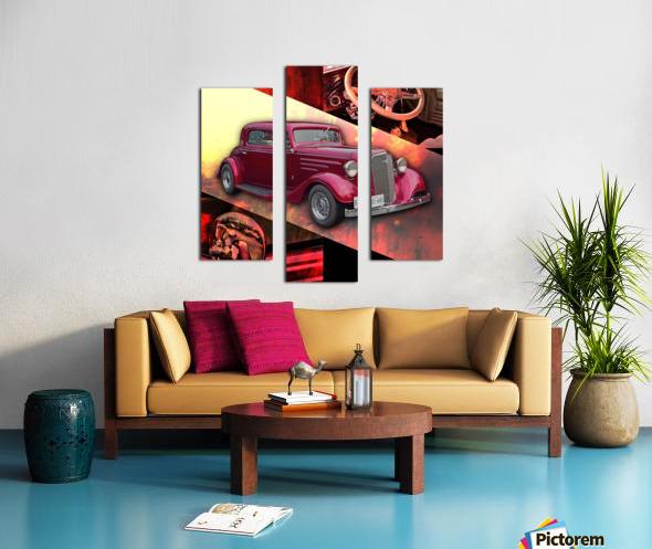 1935 Chevrolet 5-Window Coupe Canvas print