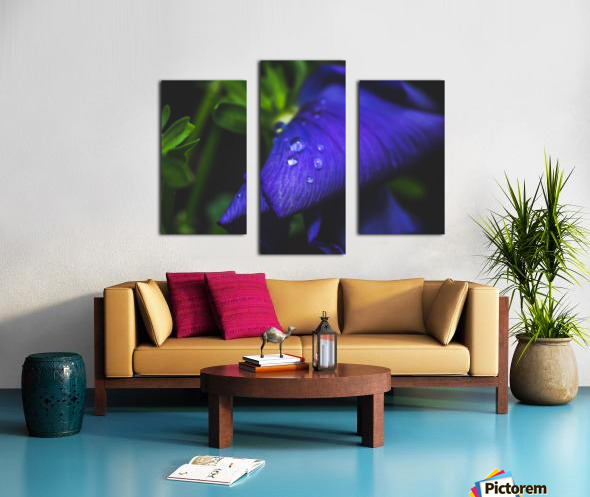 Drops With Blue Canvas print