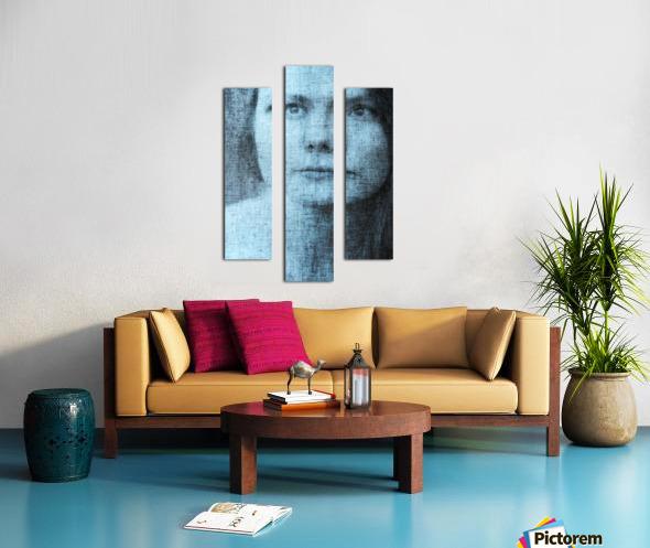 Un regard bleu - A Blue Gaze Canvas print