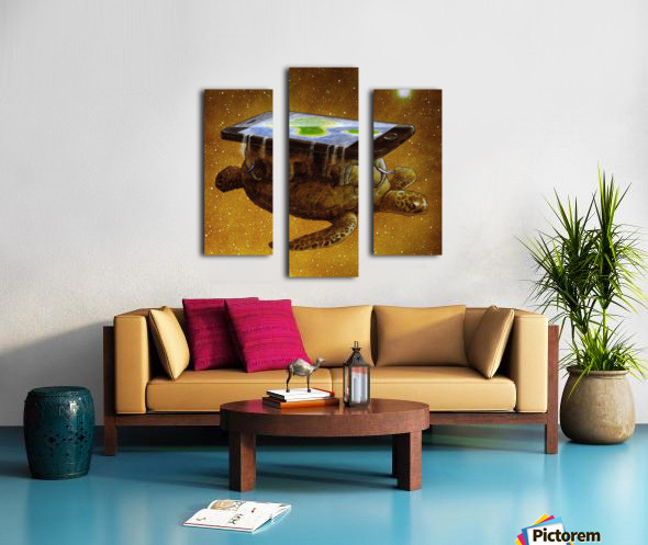 flat world Canvas print