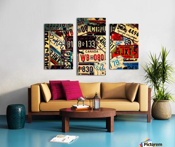 Plates Galore Canvas print