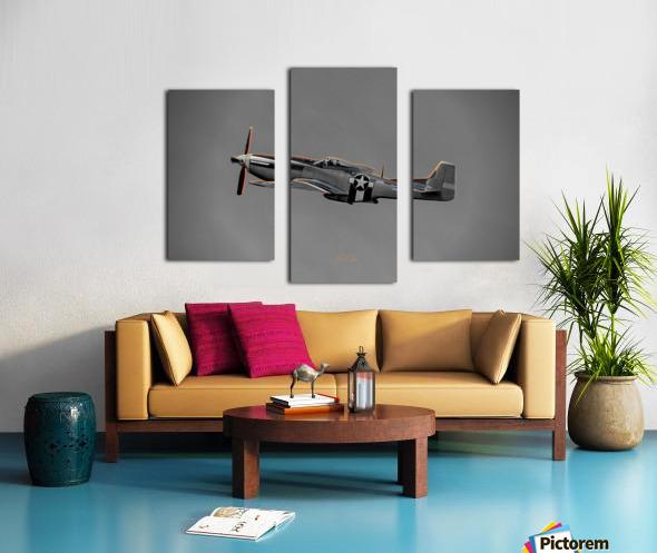 P-51 Orange Super Limited Edition 10 Prints only Canvas print