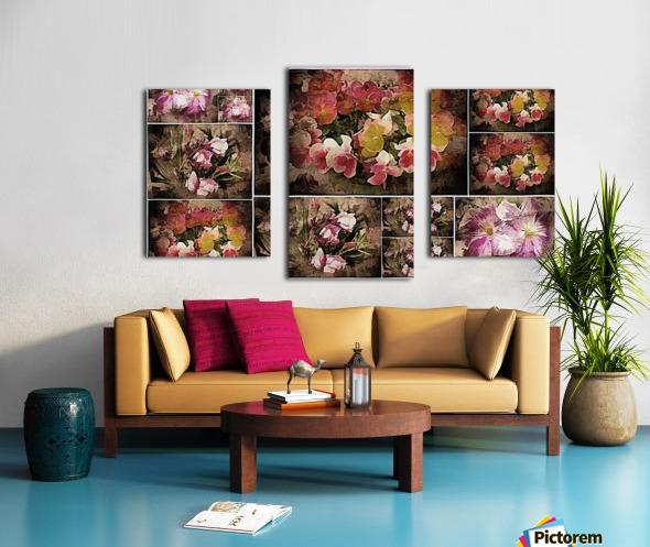 Vintage Floral Imaginings Collage Canvas print