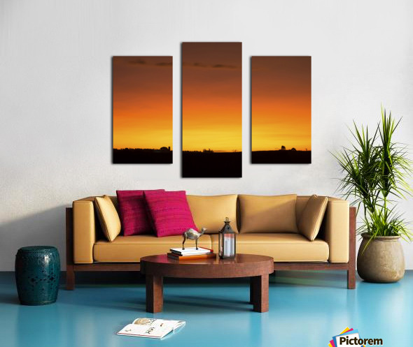 Strong Colours at the End of a Day Canvas print