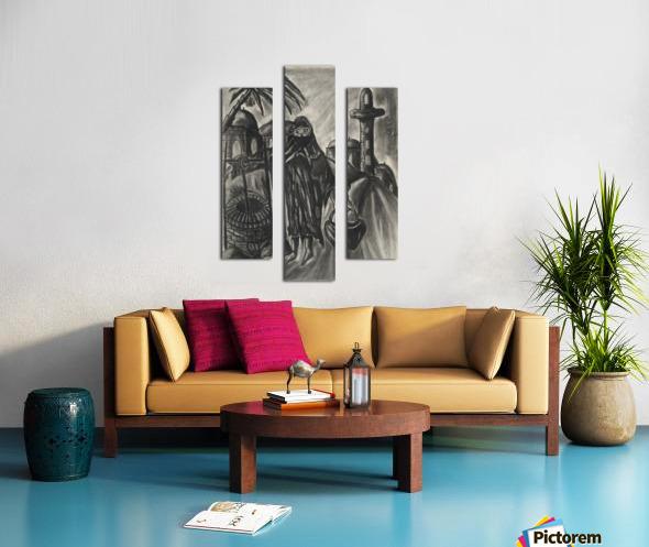 RA 014 - אישה מוסלמית - Muslim woman Canvas print