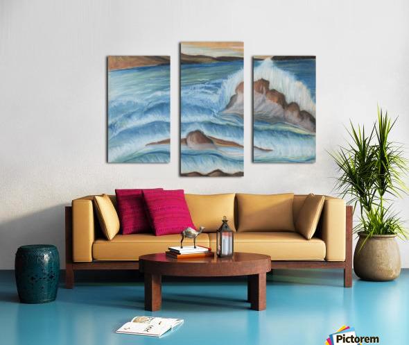 RA 002 - גל מתנפץ - crashing wave Canvas print