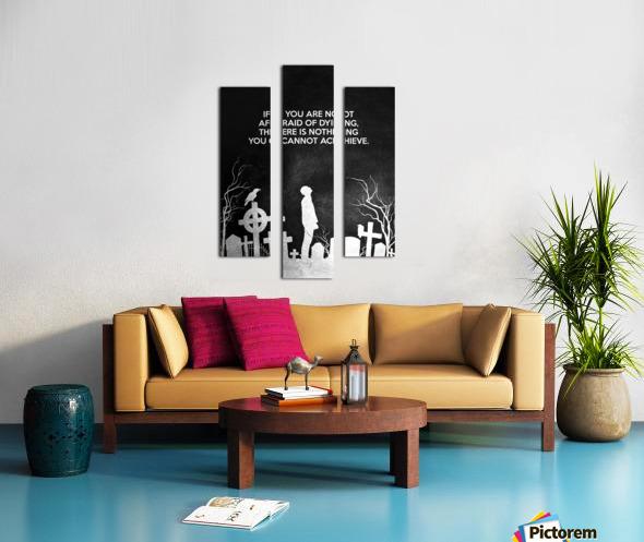 Laugh at Death Motivational Wall Art Canvas print