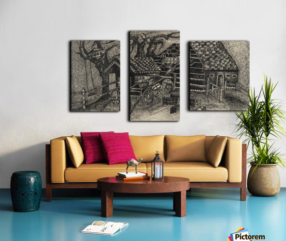 RA 013 - בית בכפר -  house in the village Canvas print