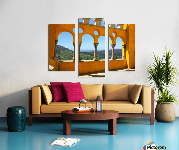 Shadows and Sunlight - Palace of Pena - Sintra Portugal Canvas print