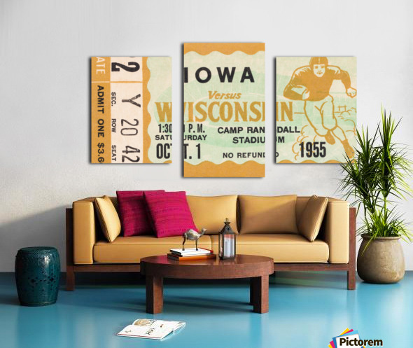 1955 Iowa Hawkeyes vs. Wisconsin Badgers Canvas print