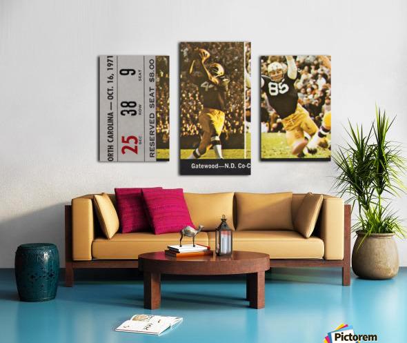 1971 Notre Dame vs. North Carolina Football Ticket Canvas Canvas print