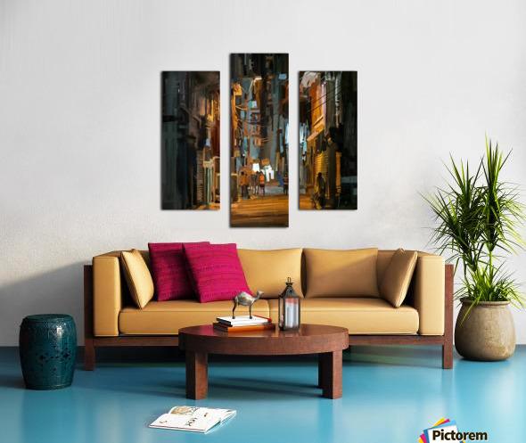 LateNightStreet Canvas print