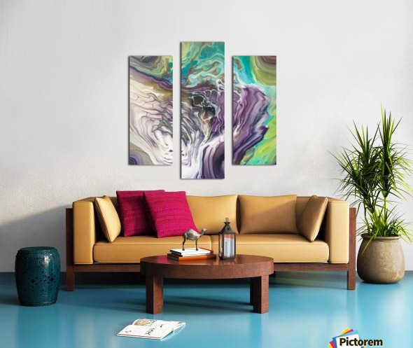 Peacock Marble Abstract Canvas print