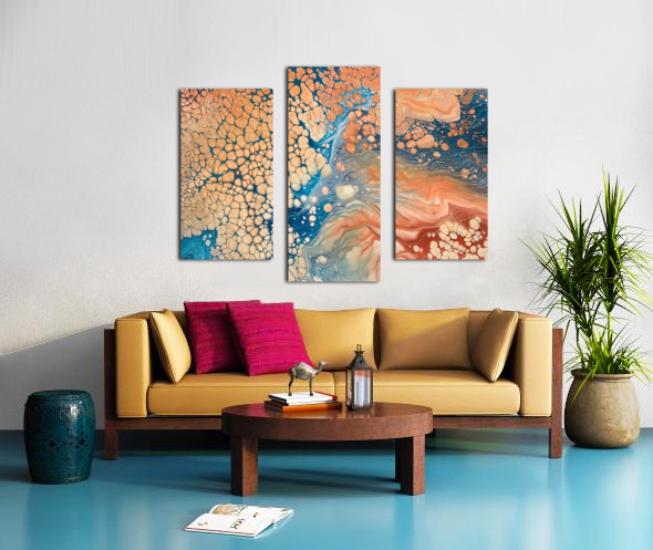 Coral Reef Abstract Canvas print