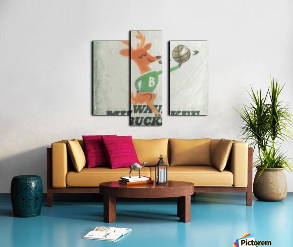 1974 Milwaukee Bucks Fleer Decal Art Canvas print
