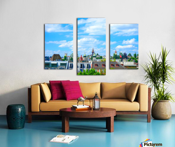 Skyline Lucerne Switzerland Canvas print