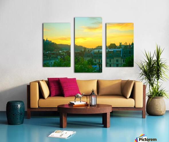 Sunset over Lucerne Switzerland Canvas print