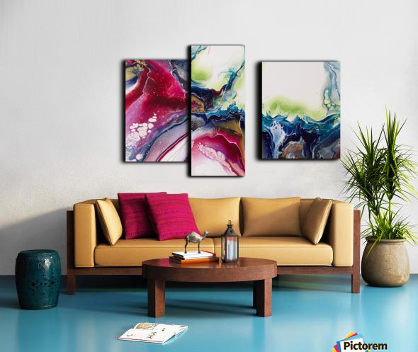 Dichotemy Abstract Canvas print