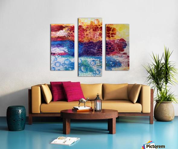 Rainbow Lizard Abstract Canvas print