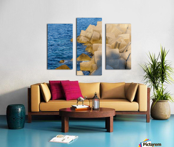 Cubes on the sea Canvas print