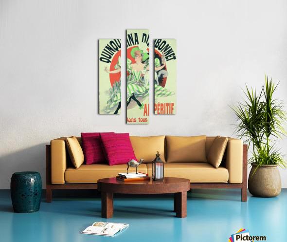 Quinquina Dubonnet - Aperitif dans tous les Cafes poster Canvas print