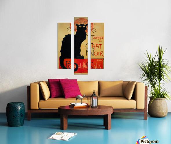 Theophile Steinlen - Tournee du Chat Noir Canvas print