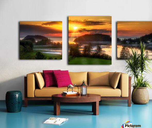 Coucher de soleil au Bic Canvas print