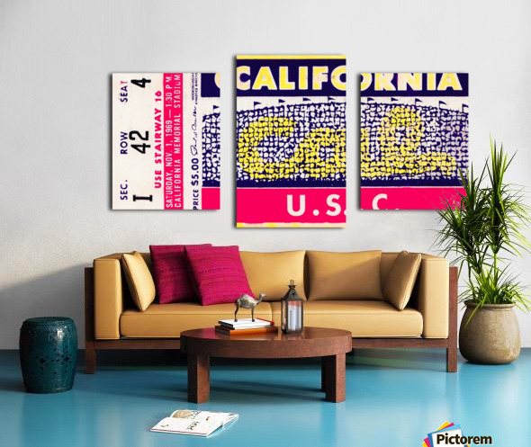1969 Cal Bears vs. USC Trojans Canvas print