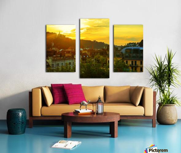 Summer Sunset over Lucerne Switzerland Canvas print