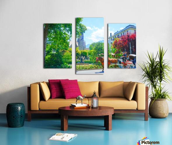 One Day in Interlaken Switzerland 1 of 3 Canvas print