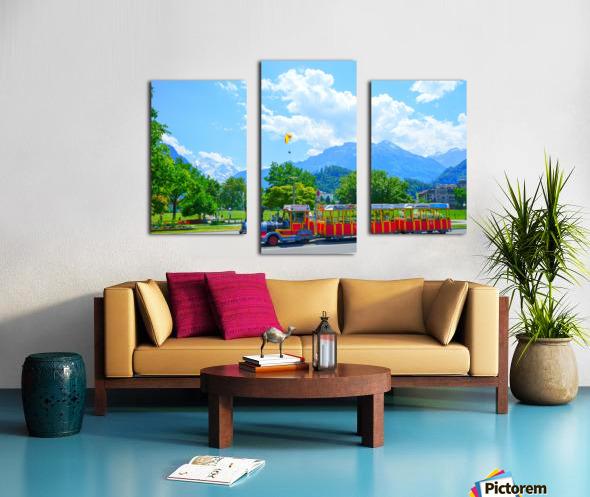 One Day in Interlaken Switzerland 2 of 3 Canvas print