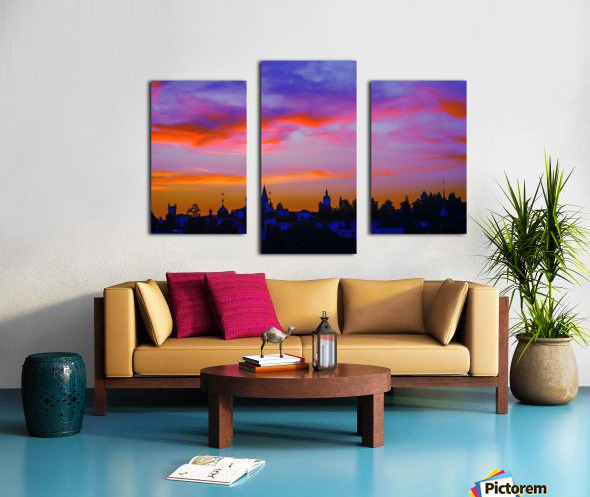One Fine Summer Evening at Sunset in Lucerne Switzerland Canvas print