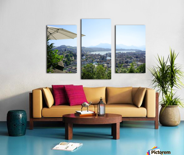 Stunning View to Lake Lucerne in the Central Swiss Alps Canvas print
