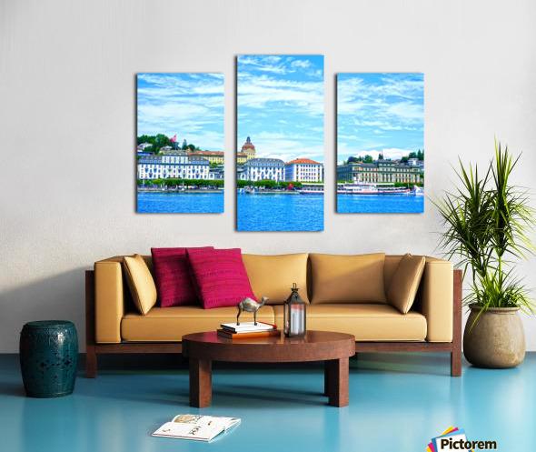 Waterfront   Lucerne Switzerland 2 of 3 Canvas print