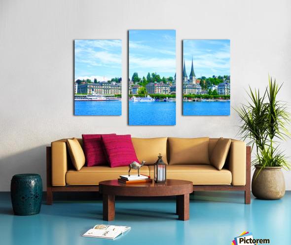Waterfront   Lucerne Switzerland 1 of 3 Canvas print