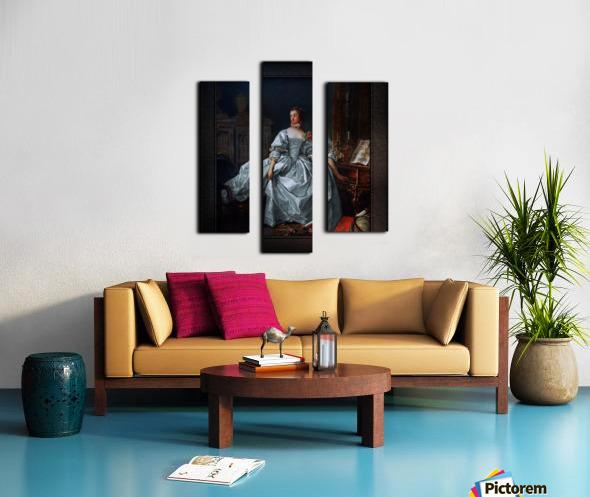 La Marquise de Pompadour by Francois Boucher Classical Fine Art Xzendor7 Old Masters Reproductions Canvas print