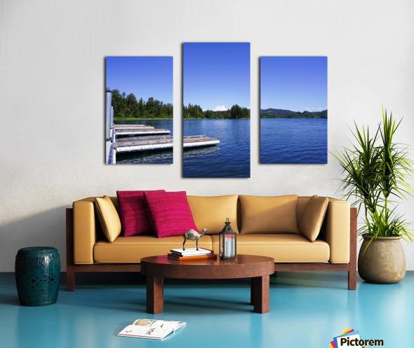 Alder Lake and Mount Rainier Pacific Northwest United States Canvas print