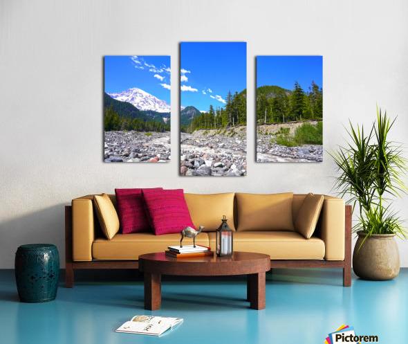 Spring Runoff Mount Rainier Pacific Northwest Washington State Canvas print