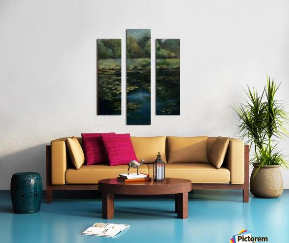 Calhoun pond Canvas print