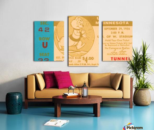 1956 Washington Huskies vs. Minnesota Golden Gophers Canvas print