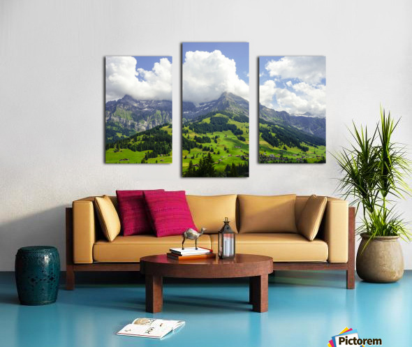 Beautiful Day in the Swiss Alps 2 of 2 Canvas print