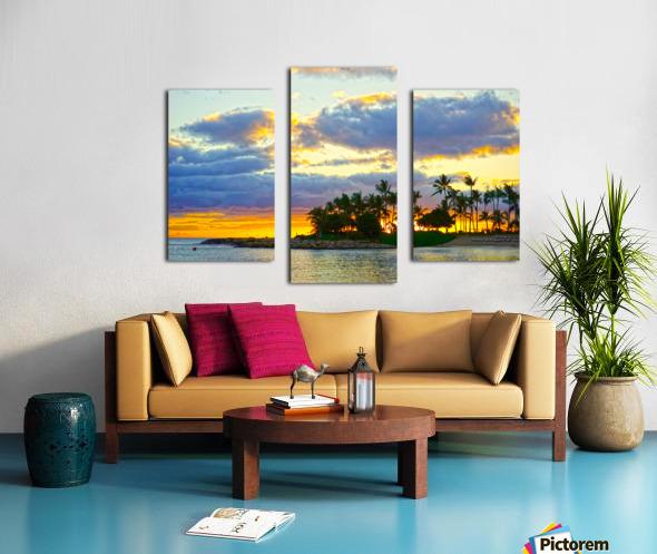 Sunset over Kaula Bay Hawaii Canvas print