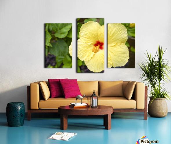 Yellow Hibiscus Tropical Flower Hawaii Canvas print